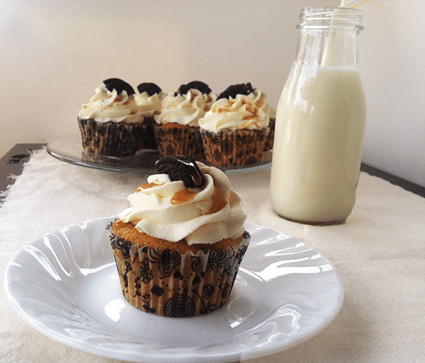 Oreo Cookies and Cream Cupcakes & Whipped Cream Topping