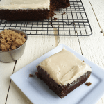Roasted Banana Walnut Butter Bars w/ Brown Sugar Frosting