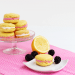 Lemon Macarons with Mixed Berry Buttercream