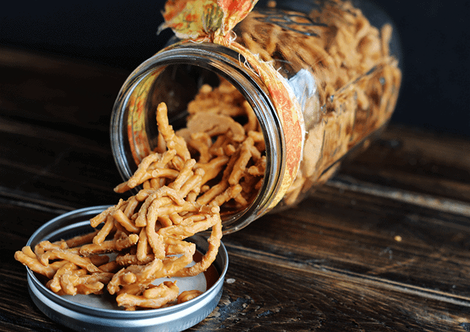 Chow Mein Candy via Cookie Dough and Oven Mitt