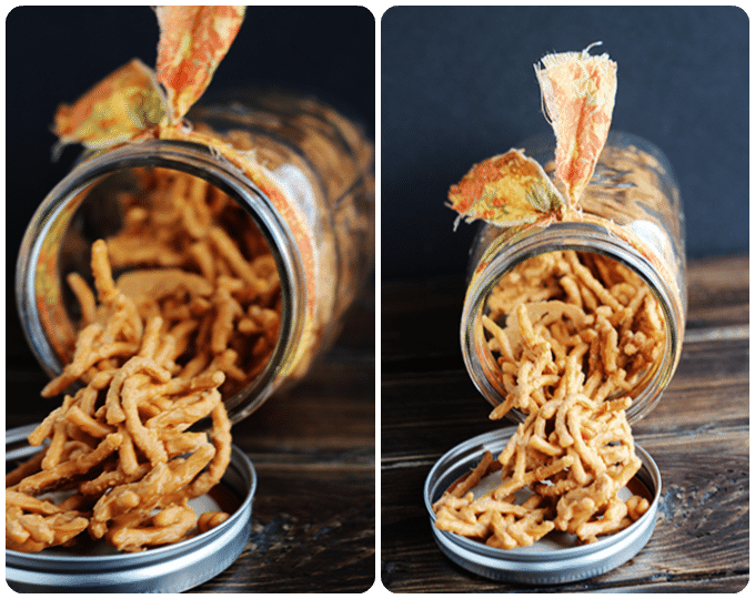 Chow Mein Candy - Haystacks via Cookie Dough and Oven Mitt