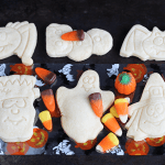 Halloween Shortbread Cut-out Cookies via Cookie Dough and Oven Mitt