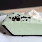 Creme De Menthe Pie - Cookie Dough and Oven Mitt
