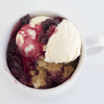 Blackberry Cobbler via Cookie Dough and Oven Mitt