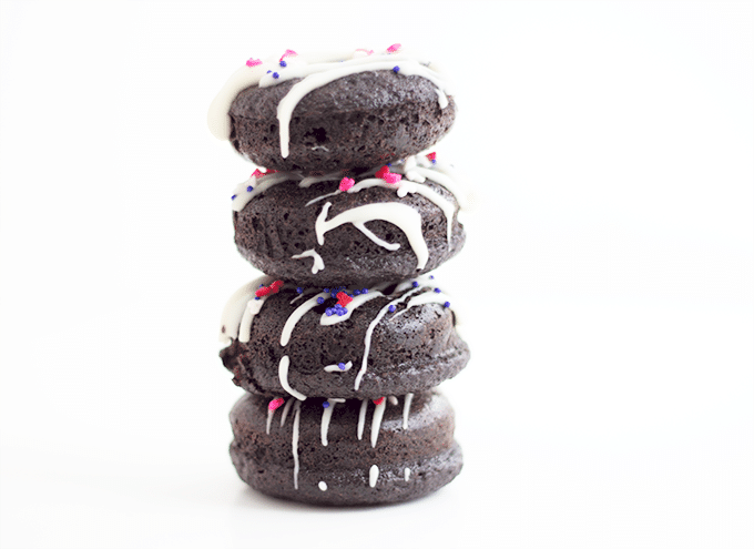 Dark Chocolate Mini Baked Donuts