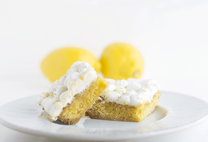 Lemon Cake Mix Bars