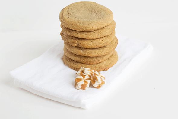 Caramel Filled Brown Sugar Cookies #recipes #cookies