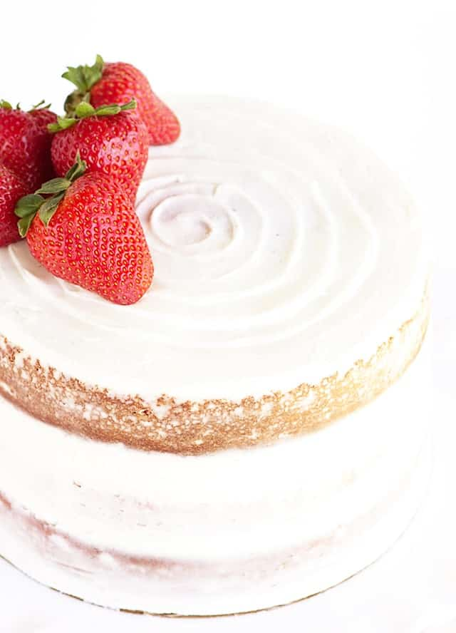 Fresh Strawberry Cake - this cake is packed full of strawberry flavor and incredibly tender!