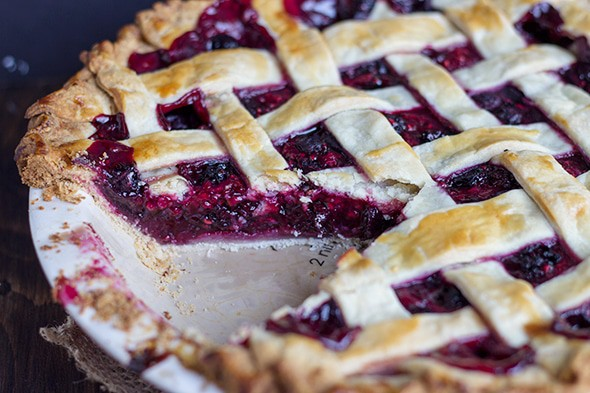 Mixed Berry Pie - Cookie Dough and Oven Mitt