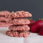 Strawberries & Cream No Bake Cookies