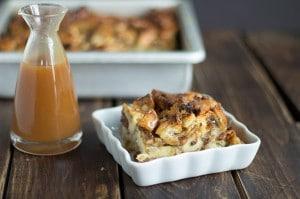 Caramel Raisin Bread Pudding