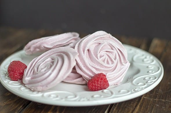 Raspberry Meringue Cookies