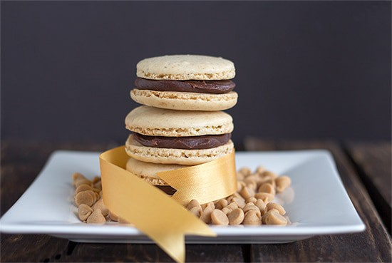Peanut Butter Macarons with Chocolate PB Ganache