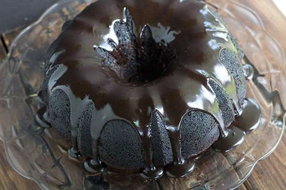 Triple Chocolate Zucchini Bundt Cake