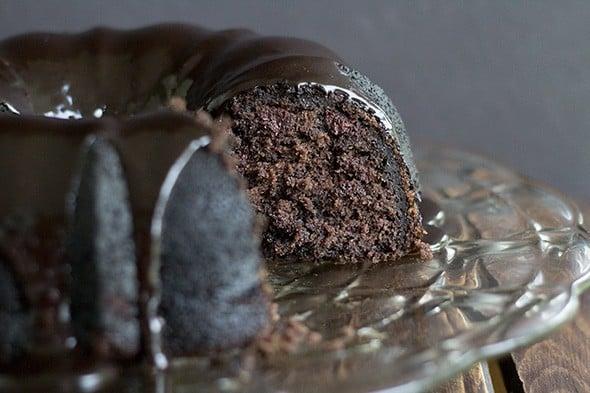 Triple Chocolate Zucchini Bundt Cake