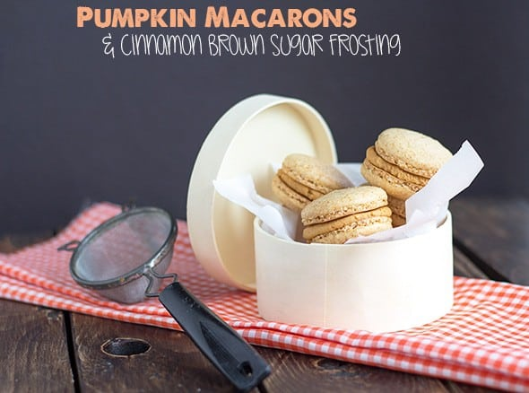 Pumpkin Macarons with Brown Butter Frosting