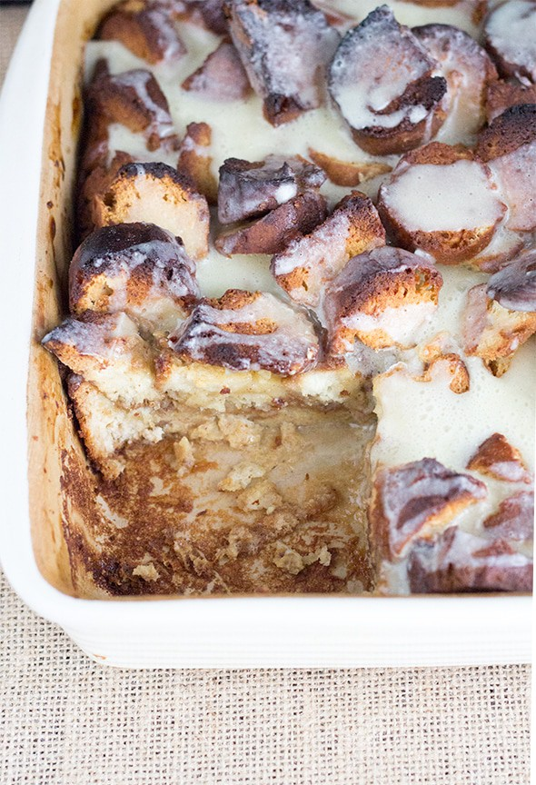 Eggnog Donut Bread Pudding