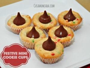 Festive Mini Cookie Cups