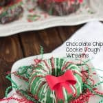 Chocolate Chip Cookie Dough Wreaths