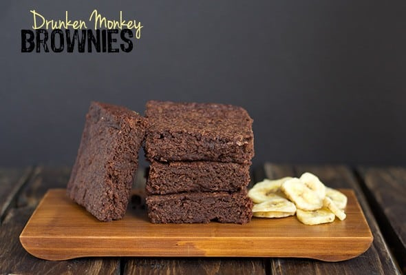 Drunken Monkey Brownies