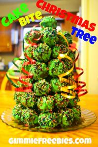 Cake Bite Christmas Tree