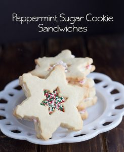 Peppermint Sugar Cookie Sandwiches