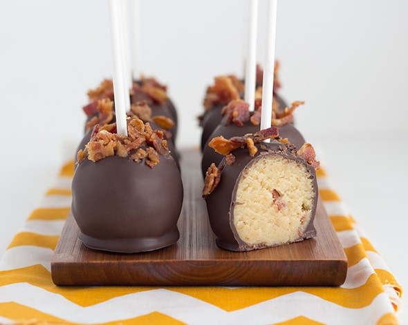 Maple Bacon Cake Pops Cookie Dough And Oven Mitt
