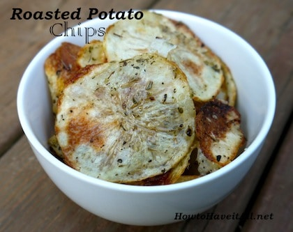 Roasted Parmesan Potato Chips