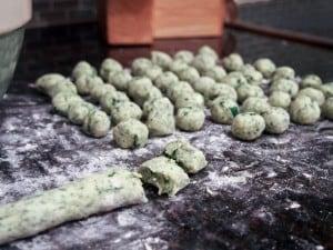 Potato and Spinach Gnocchi