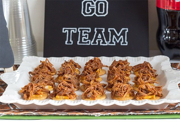 Game Day Pulled Pork Cracker Stacks