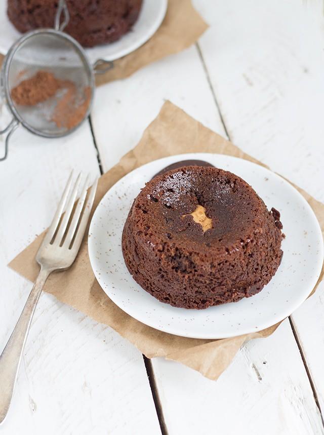 Peanut Butter Chocolate Lava Cake