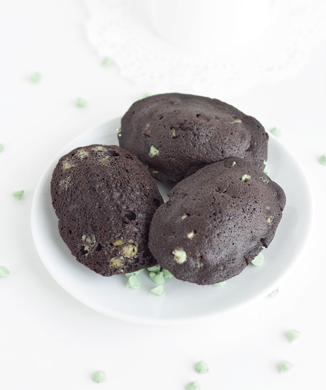 Chocolate Mint Chip Madeleines