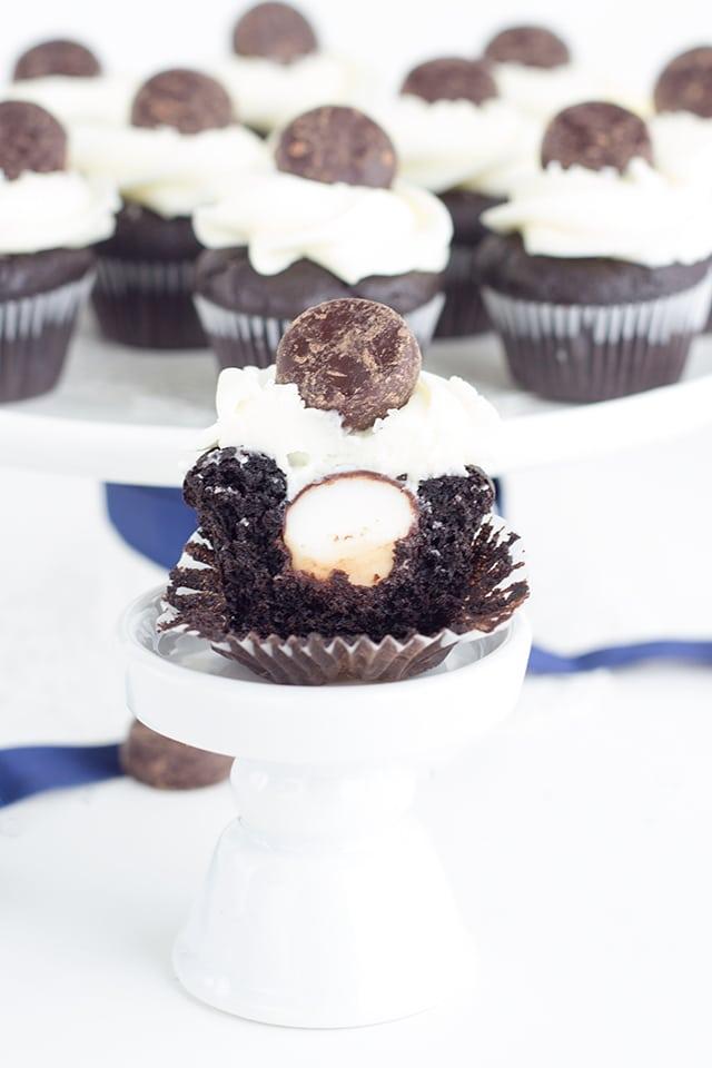 Mini Chocolate Peppermint Patty Cupcakes