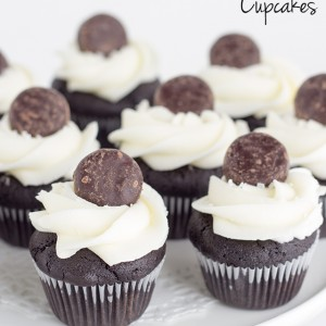 Mini Chocolate Peppermint Patty Cupcakes
