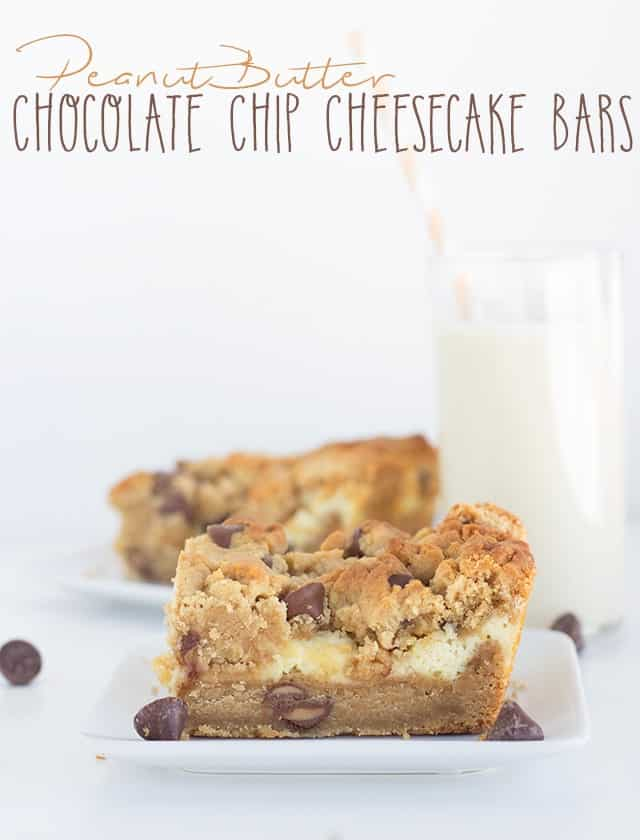 Peanut Butter Chocolate Chip Cheesecake Bars
