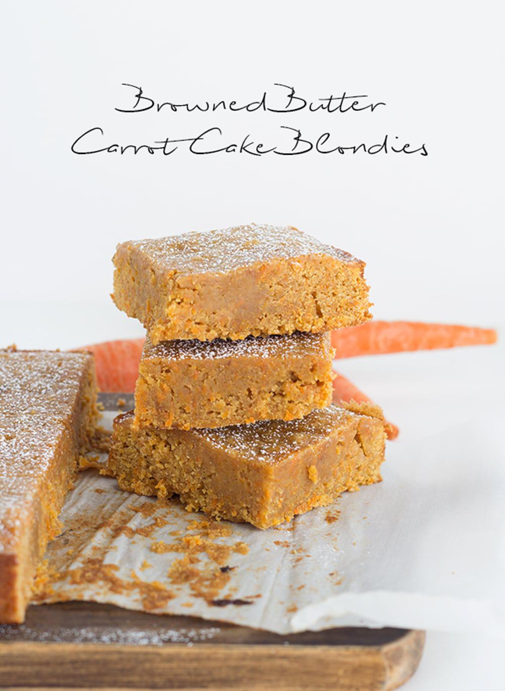 Browned Butter Carrot Cake Blondies