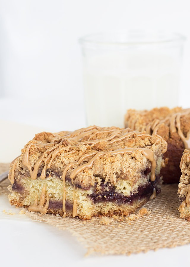 Peanut Butter Jelly Coffee Cake