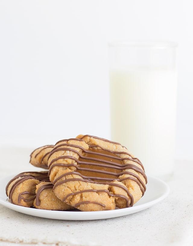 Caramel Thumbprint Cookies