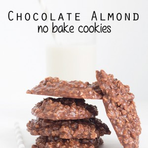 Chocolate Almond No Bake Cookies