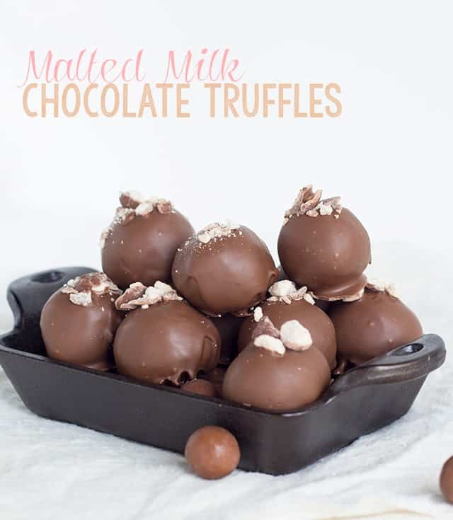 Malted Milk Chocolate Truffles - Cookie Dough and Oven Mitt