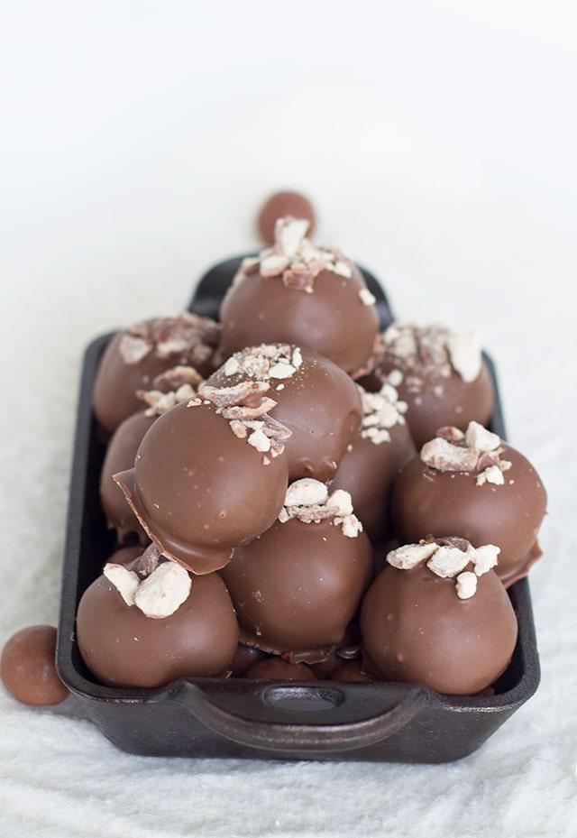 Malted Milk Chocolate Truffles