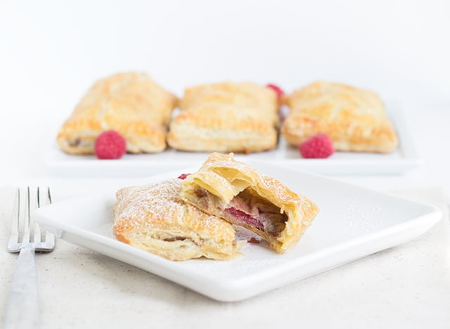 Raspberry Brie Puff Pockets