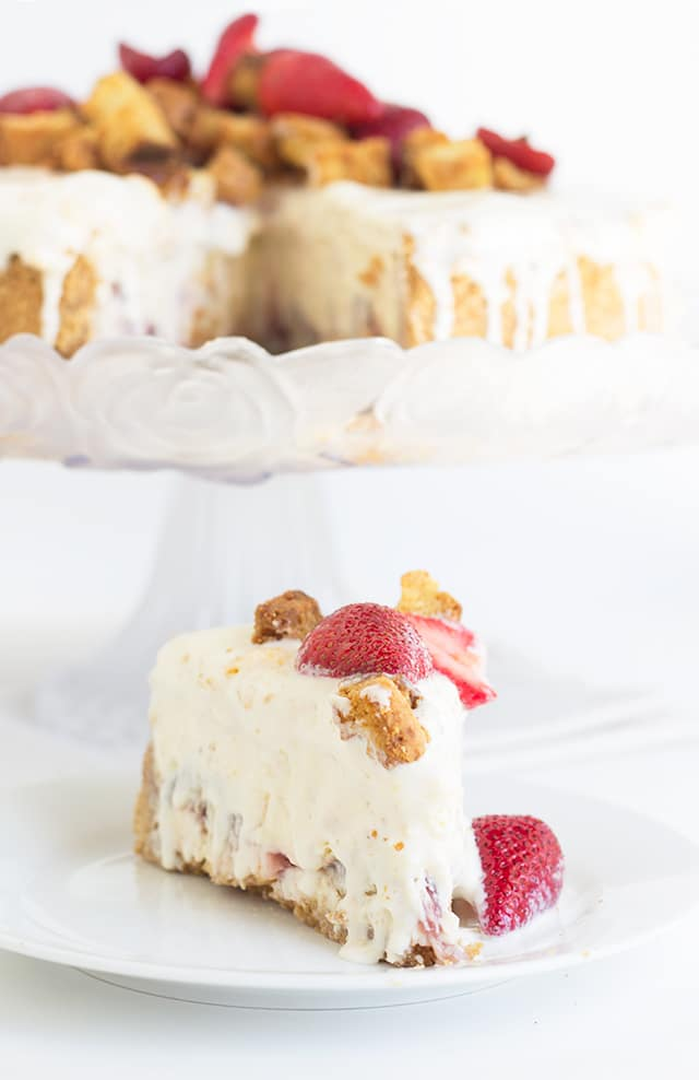 Strawberry Shortcake Cheesecake - Cookie Dough and Oven Mitt