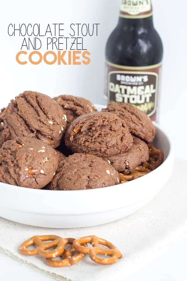 Chocolate Stout and Pretzel Cookies