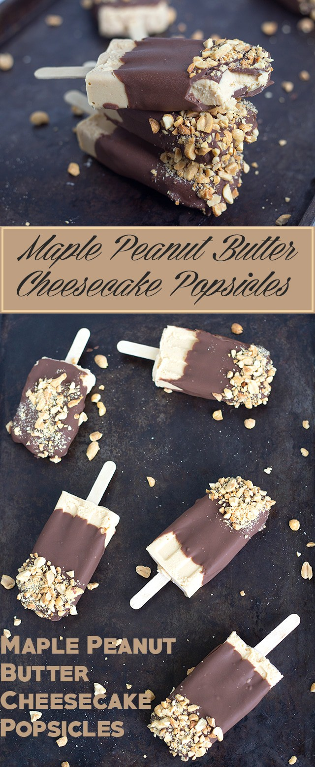Maple Peanut Butter Cheesecake Popsicles