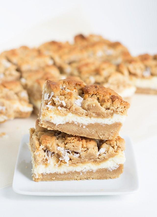 Peanut Butter Coconut Cheesecake Bars