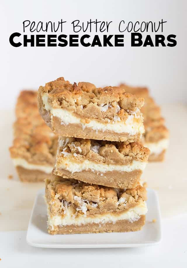 Peanut Butter Coconut Cheesecake Bars