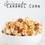 Sriracha Caramel Corn - a fun spicy and sweet treat for the family!