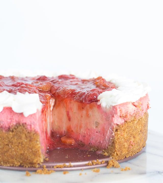 Strawberry Rhubarb Cheesecake