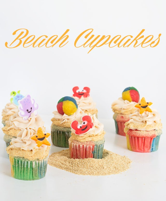 titled image (and shown): Beach Cupcakes